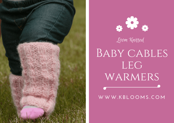 BABY CABLE LEG WARMERS