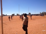 Footy Carnival at Finke. teams from NT and SA were there for that 3 days. Playing in dirt and some no shoes. It reminded me of my childhood. Not much different. Except the footy!