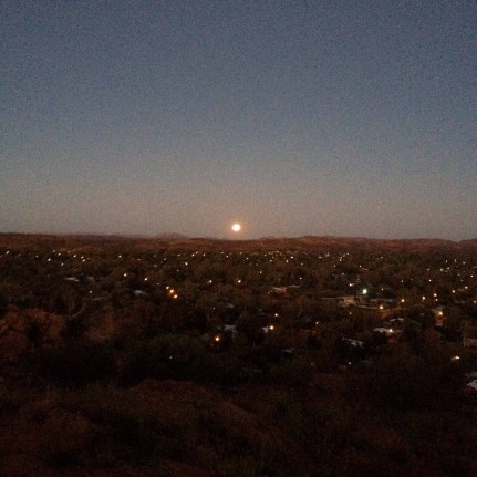 where i saw the sunset and moon rise within few minutes apart...bunch of new friends on hill top!