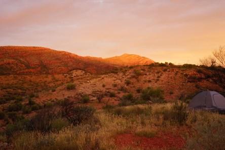 Me, my tent, a leather man, few dingo's in the distance, mountain Spirit....Go raj!