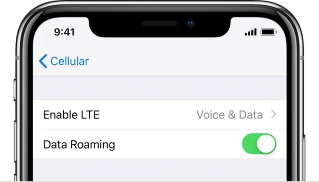cara mengaktifkan roaming data