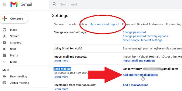Jika kamu sudah masuk di menu Account and Import langsung saja cari opsi Send Mail As. Tuliskan nama email kamu dan kemudian pilih opsi Edit Info.