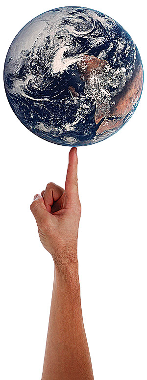 The world at your fingertips; carry yourself and carry the world!
