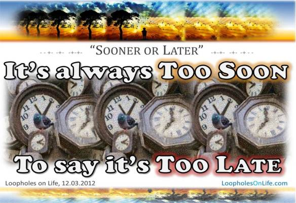 Is time up? It's up to you...