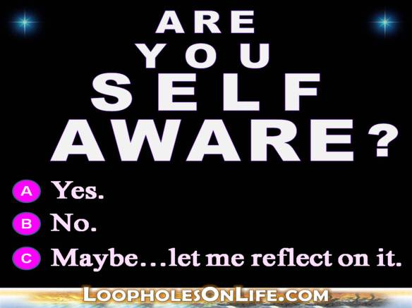 Are you Self Aware? Maybe, let me reflect on it!