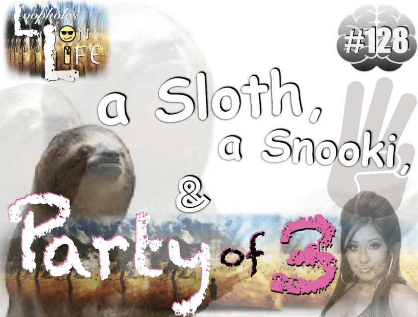 a sloth, a snooki, and a party of 3!