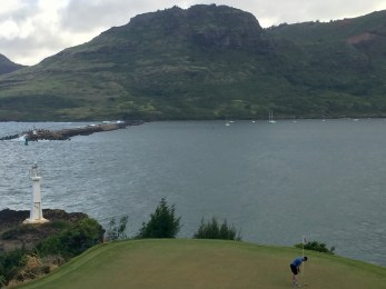 Final putt by the harbor