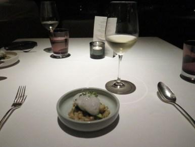 Course 2 - Glove Artichoke & Spring Onion Fregola w/ old vine Marsanne