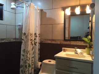 Clean Bathroom with Hot Water (apparently unusual in this area)