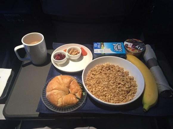 In-flight breakfast