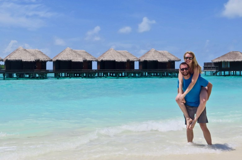 Overwater Bungalows at the Sheraton Maldives Resort