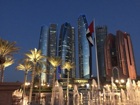 Downtown Abu Dhabi at Sunset from the Palace
