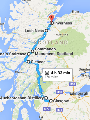 Glasgow to Inverness