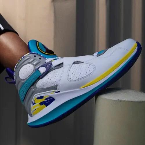 Air Jordan 8 White Aqua