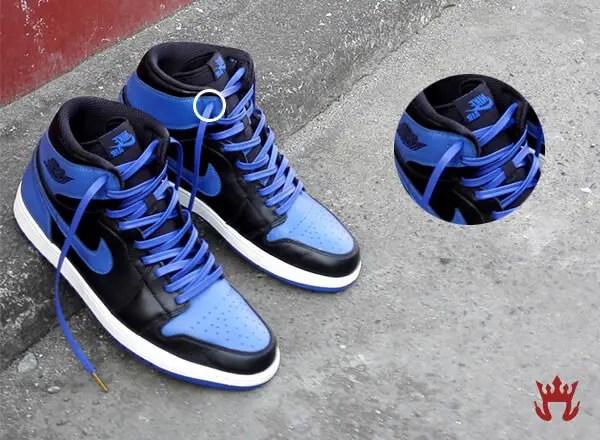 Image of an eyelet on Jordan Sneakers