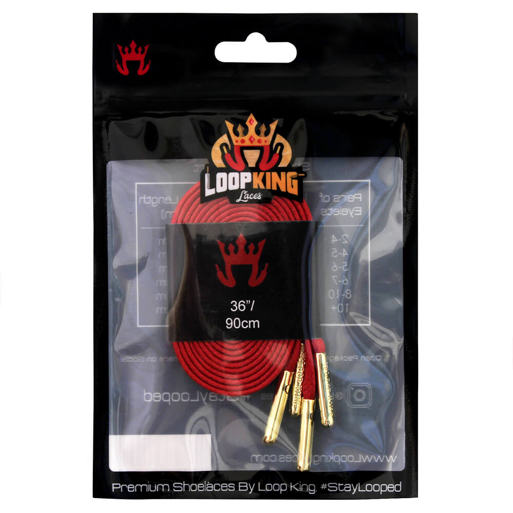 Flat Waxed Red Shoe Laces Packaging