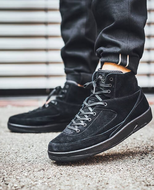 Jordan 2 all black shoelaces
