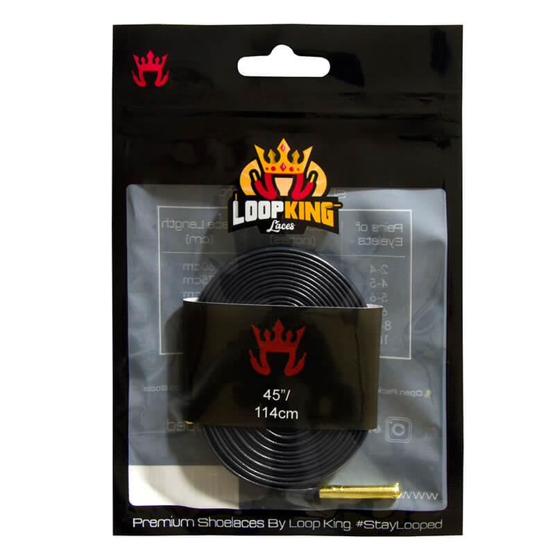 Loop King Laces Packaging for Navy Shoe Laces