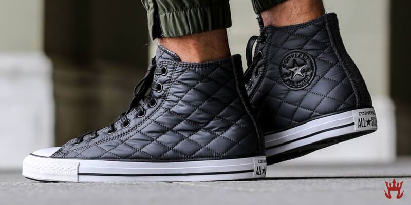 chuck taylor converse quilted leather shoes