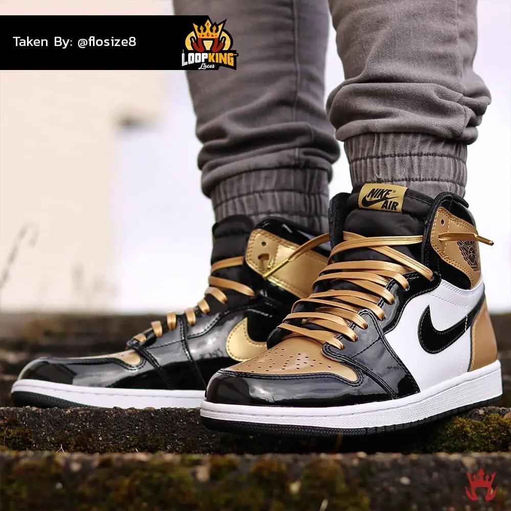 e7cd13ef29ff11 coupon black gold tip shoelaces 8b793 691ac  discount loop king laces gold  leather shoelaces on gold toe jordans 3 4c8bd 7f99e
