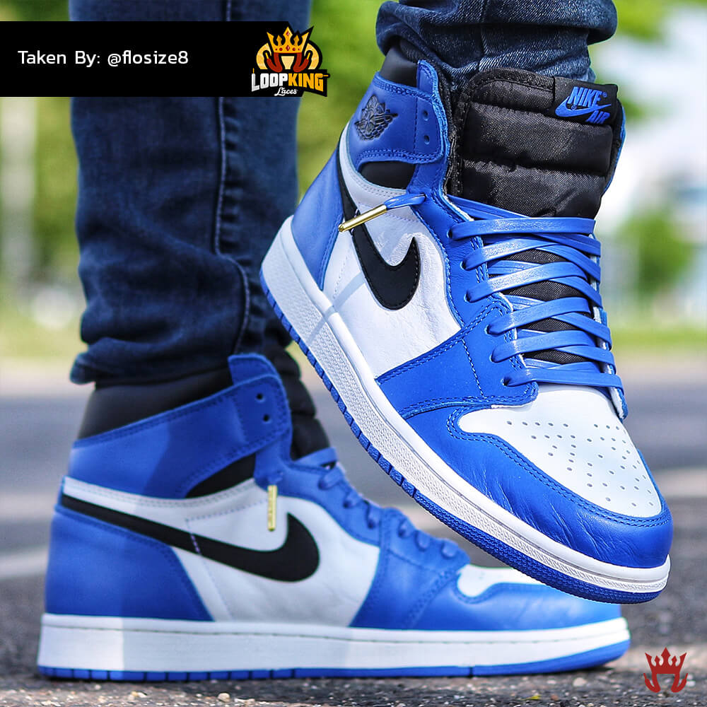 royal blue leather laces on jordan 1