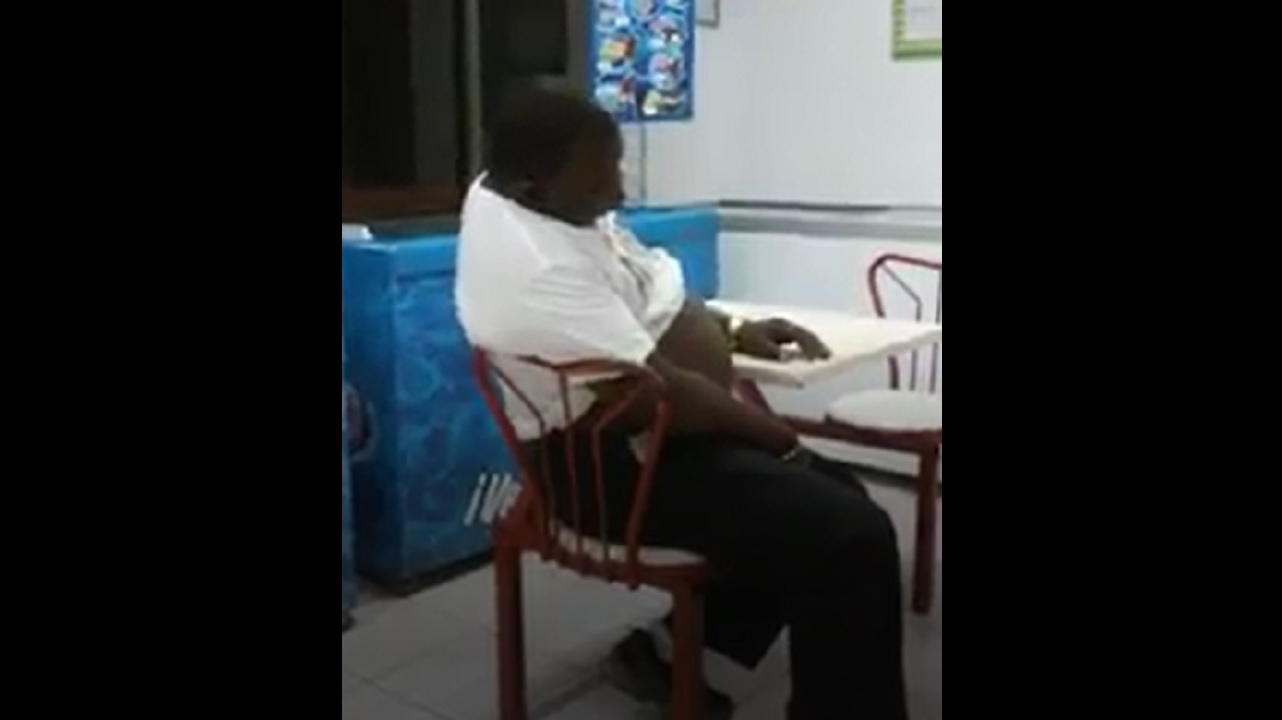 Video Chair Video Sleeping Man Falls Out Of Chair At Fast Food Restaurant In