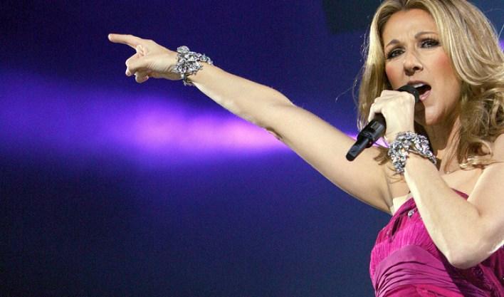 La chanteuse Celine Dion lors de sa tournée Taking Chances en 2008. Photo: Flick