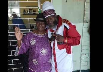 Capleton with mother, Mabel Downer-Forbes, in happy times.