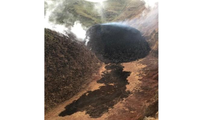 La Soufriere volcano in St Vincent and the Grenadines.  Photo credit: NEMO