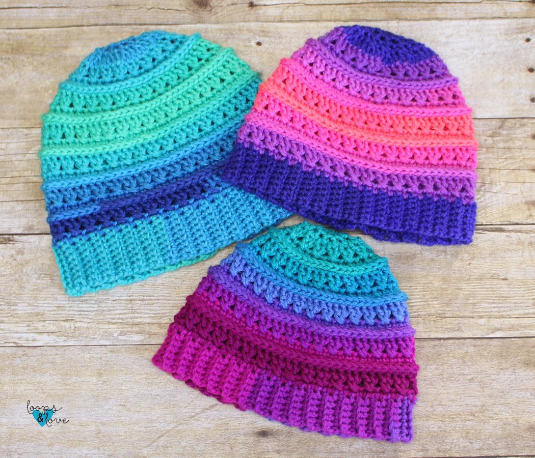 Criss Cross Beanie Loops Love Crochet