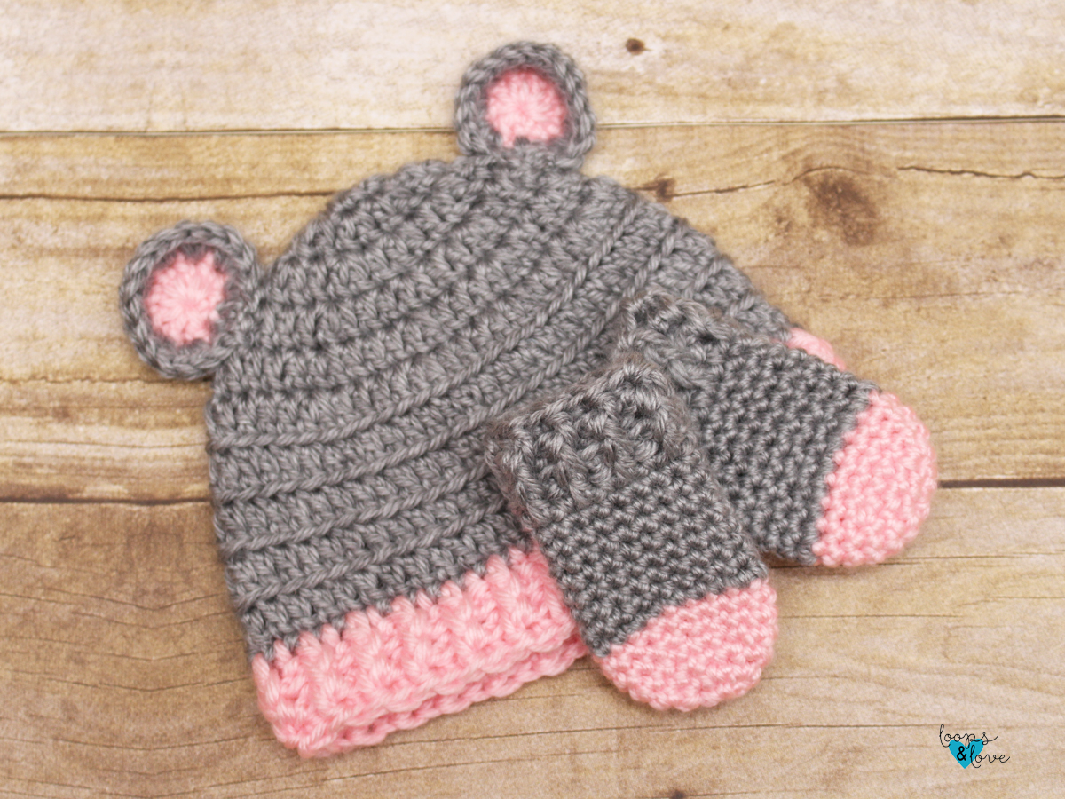 Crochet Baby Bear Hat And Mittens Loops Love Crochet