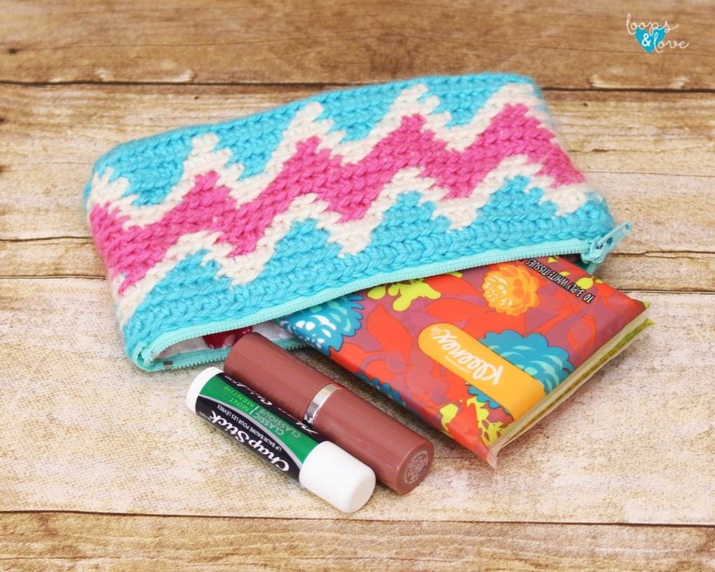 Chevron Crochet Bag Tapestry Crochet