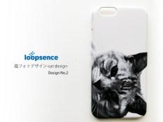 猫フォトデザイン。オリジナルスマホケースNo.2