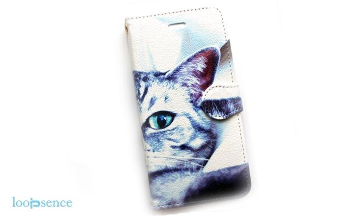 ループセンス、猫のオリジナル手帳型ケース