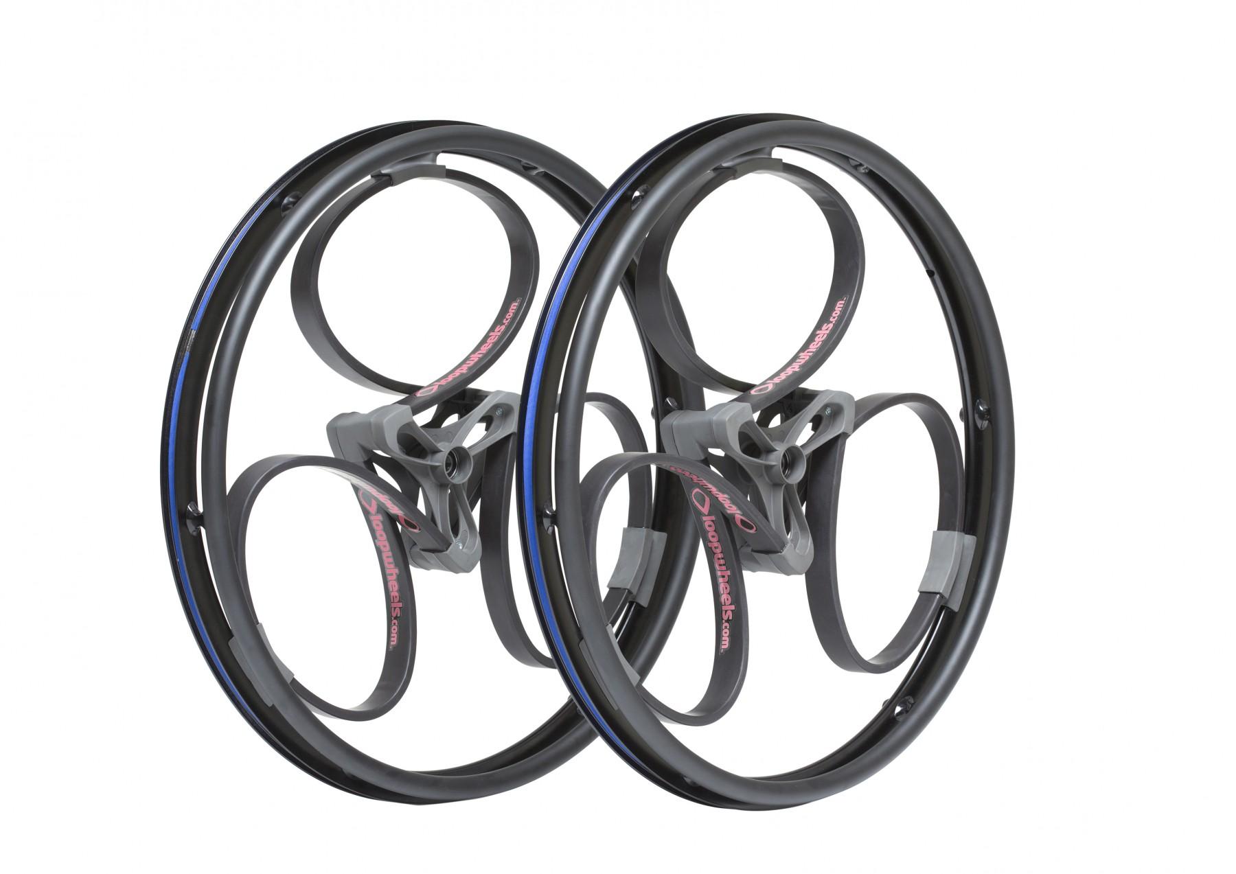 Black Suspension Wheelchair Wheels from Loopwheels