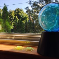 sphere lamp for a spooky Halloween by loopylocks