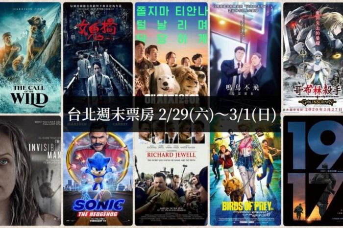 2020台北週末票房 2/29(六)~3/1(日)