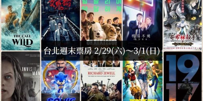 【電影票房】2020台北週末票房 2/29(六)~3/1(日)+影評整理