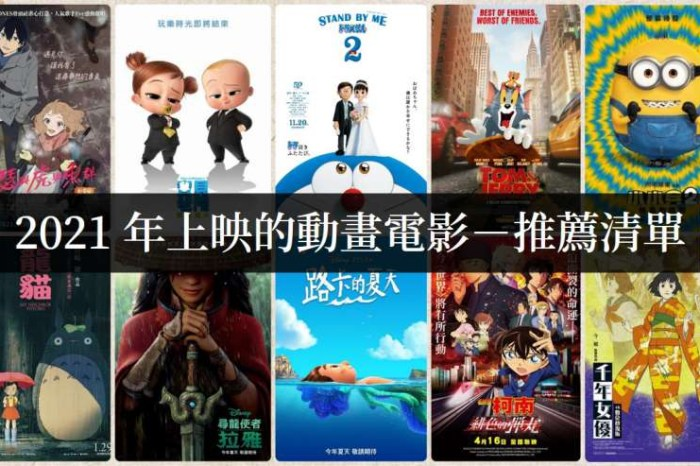 【電影推薦】2021年動畫電影上映推薦清單,闔家觀賞也充滿省思
