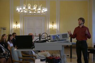 Oliver Richters beim Festvortrag -Preisträger 2005-
