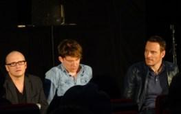 Lenny Abrahamson, Domnhall Gleeson & Michael Fassbender at Frank