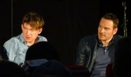 Domnhall Gleeson & Michael Fassbender at Frank