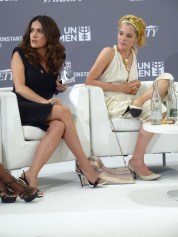 Salma Hayek & Parker Posey at He For She panel.