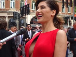 Nargis Fakhri at Spy movie premiere in London
