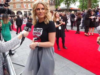 TOWIE star Danielle Armstrong at Spy movie premiere in London