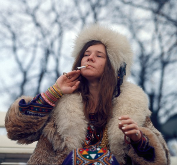DENMARK - APRIL 19: Photo of Janis JOPLIN; Janis Joplin, posed, smoking cigarette (Photo by Jan Persson/Redferns)