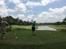 Martin at Lake hole eight