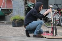 Irene Kharadze: Catapult preperation before the shot
