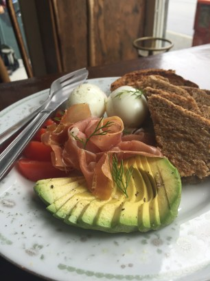 Add avocado and prosciutto to the House Breakfast for a fully-rounded meal.