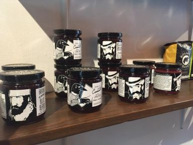 EAST VAN JAM on the shelves of Gastown's Capilano Tea House. Photo by Brittany Tiplady.